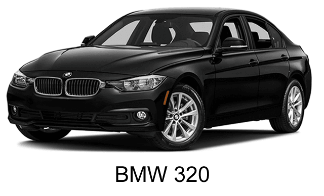 car BMW 320 for executive transportation in luxury category