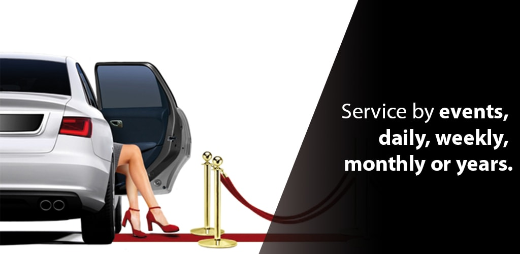 Service by events daily, weekly, monthly or years